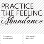 Practice the Feeling of Abundance Worksheet