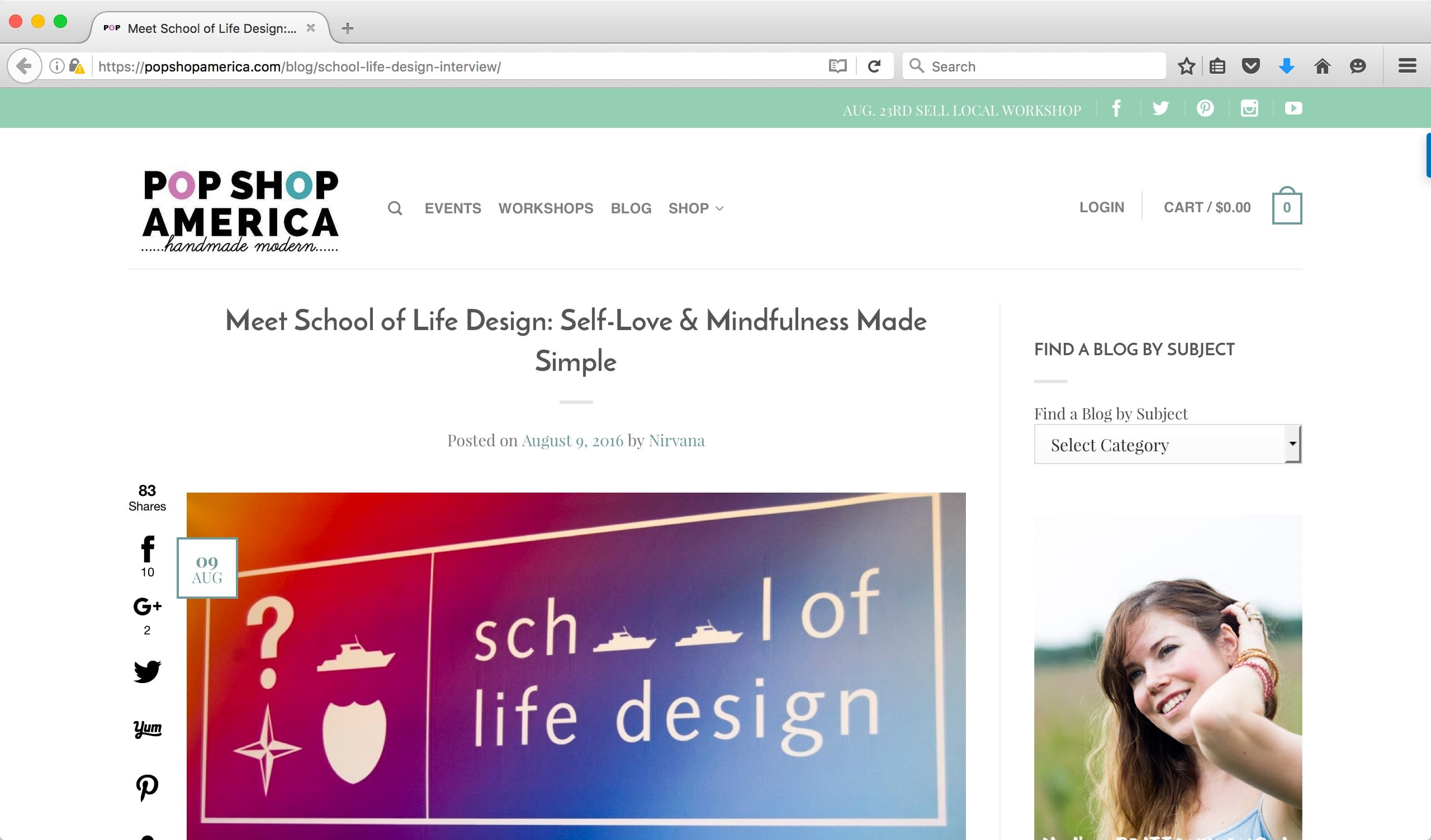 School of Life Design Interview on Pop Shop America