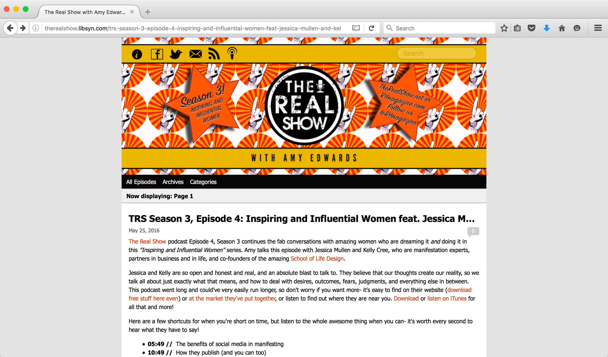 Interview on The Real Show with Amy Edwards