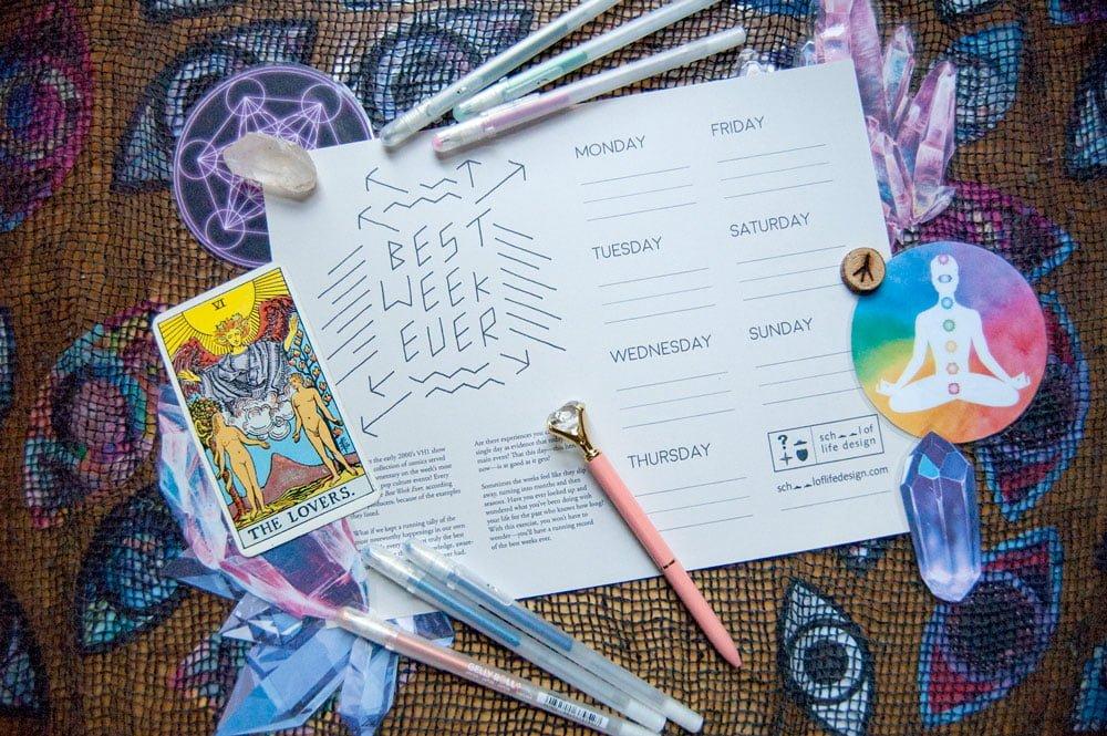 Best Week Ever Manifestation Worksheet