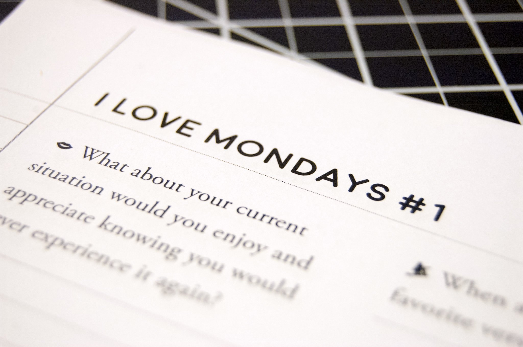 I Love Mondays! conscious creation worksheet