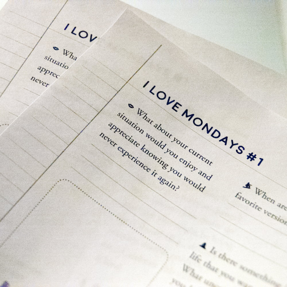 I Love Mondays! conscious creation worksheet