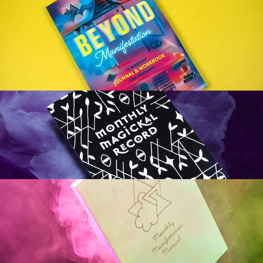 Beyond Manifestation Journal + Monthly Magickal Record + Monthly Manifestation Manual Bundle